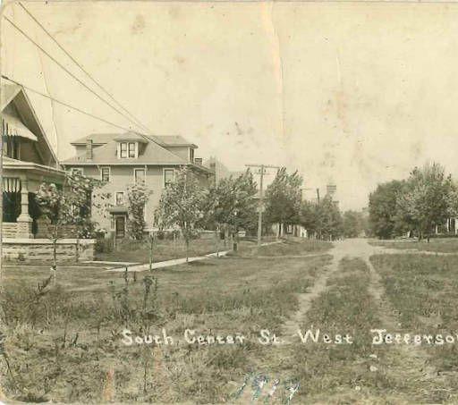 Postcard Of South Center Street West Jefferson Ohio West