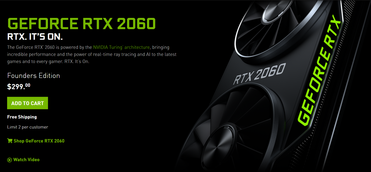 Nvidia Jebaits Amd Drops Geforce Rtx 2060 To 299 To Battle 5600