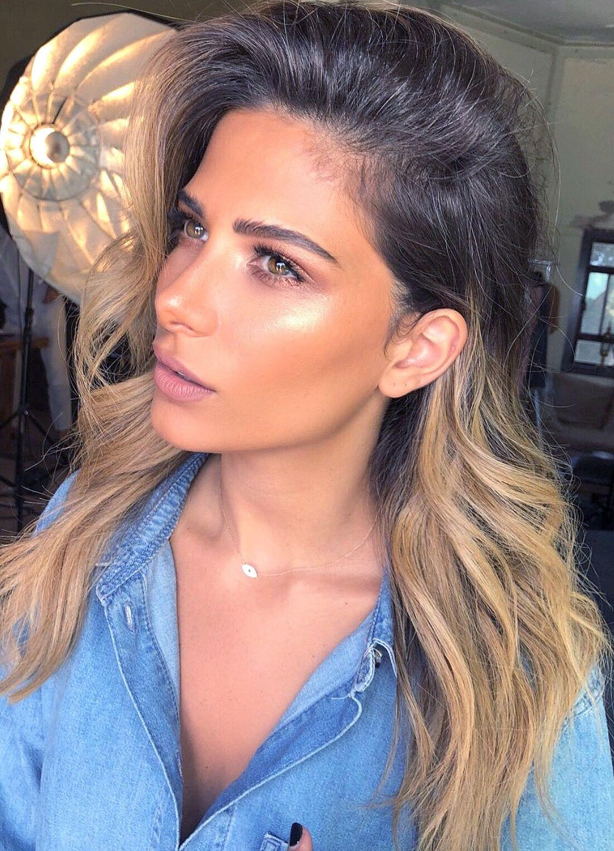 Glowy summer makeup look highlighter + bronze 🤩 (With
