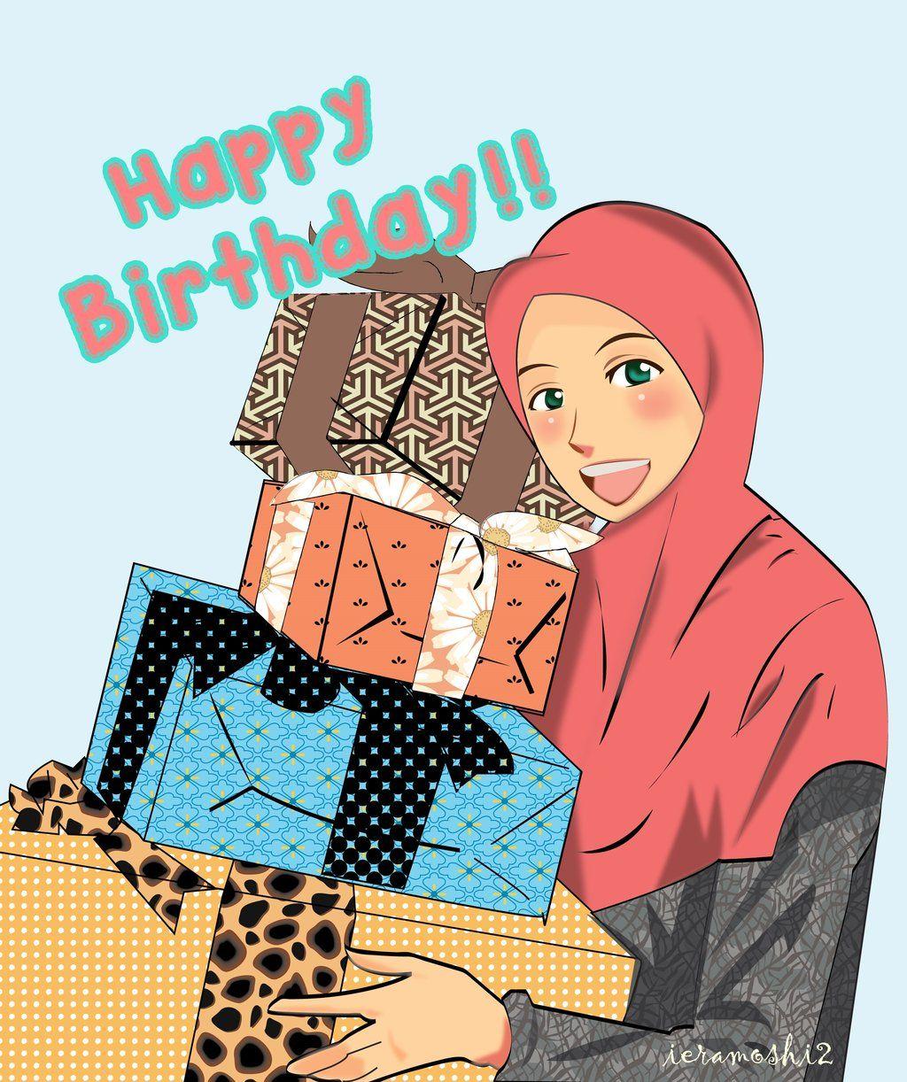 Happy Birthday By Ieramoshi2 On Deviantart Funny Birthday Cartoons Muslim Birthday Wishes Islamic Birthday Wishes
