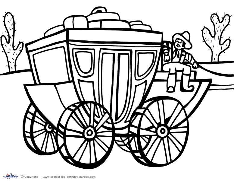Printable Wild West Coloring Page 6 Coolest Free Printables