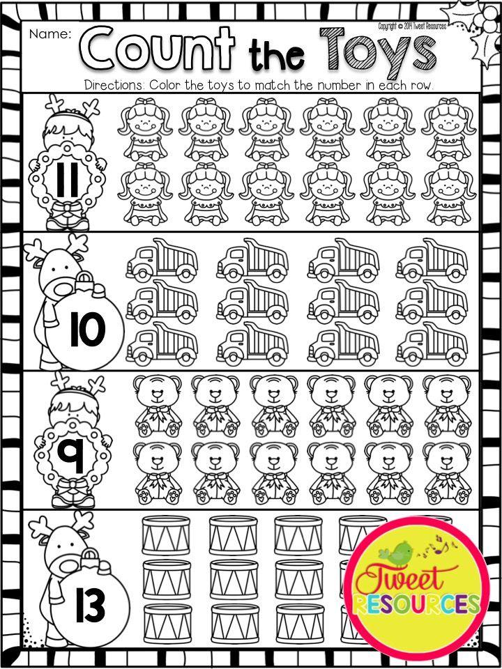 Christmas Activities For Kindergarten Math And Literacy No Prep