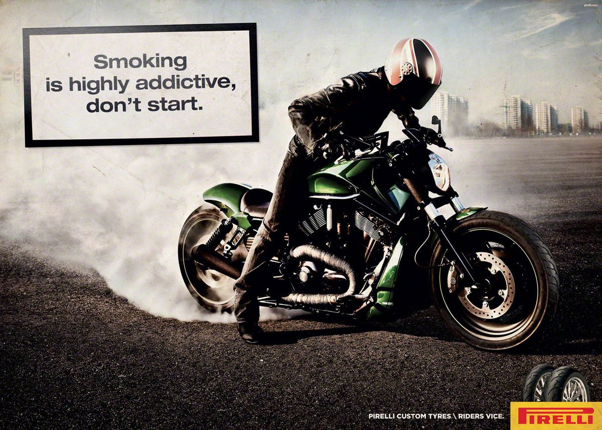 Attirant Smoking PSA. Pirelli TyresMotorcycle ...