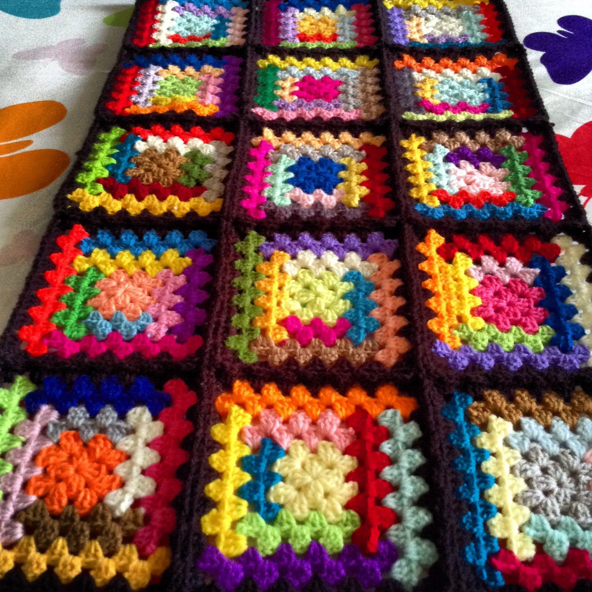 log cabin granny square | Crochet Afghans | Pinterest | Granny ...