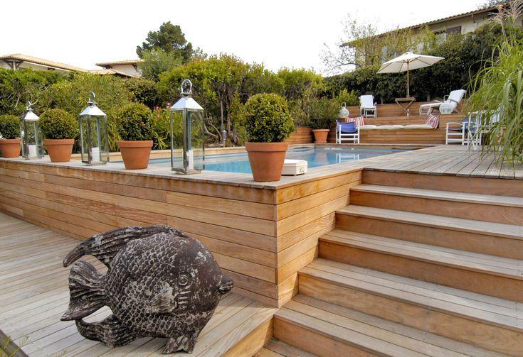 une piscine semi enterrée #poolimgartenideen