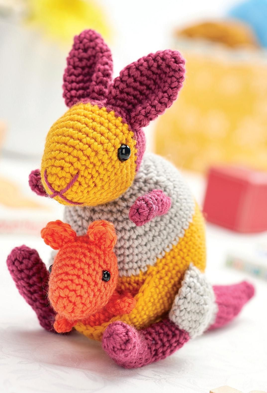 Kangaroo and joey Crochet Pattern | free pattern crochet | Pinterest ...