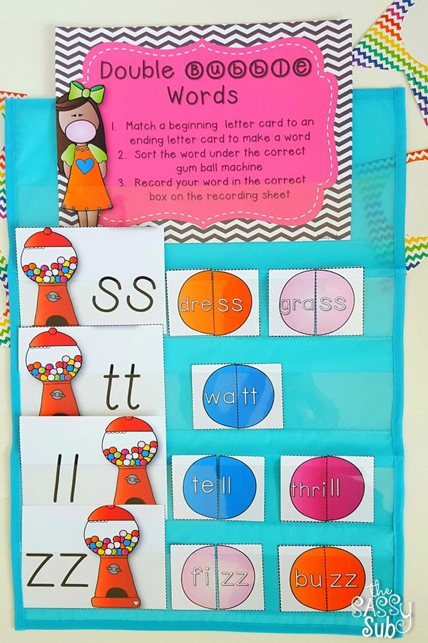 Includes Resources For Teaching Practicing Reviewing Words With Double Consonants At The End Of Words And In The Middle