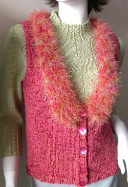 Deco-Ribbon + Splash Easy Knit Shrug - free knit pattern ...