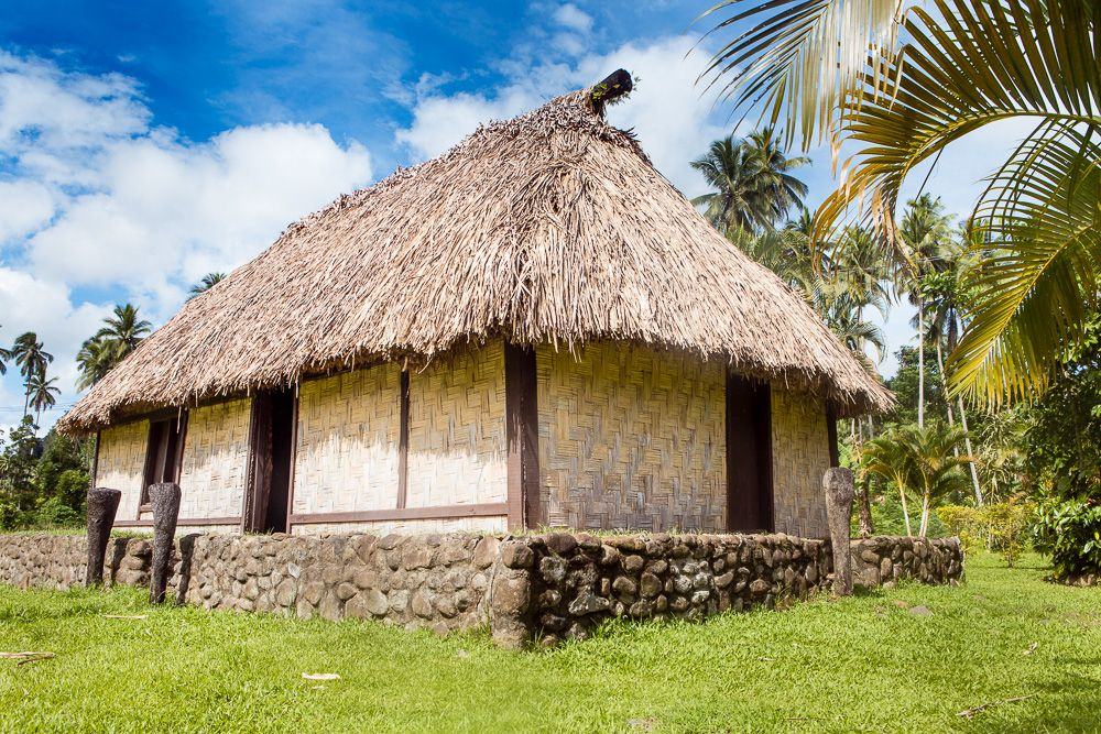The roofs of a traditional Fijian bure house structure can also sway