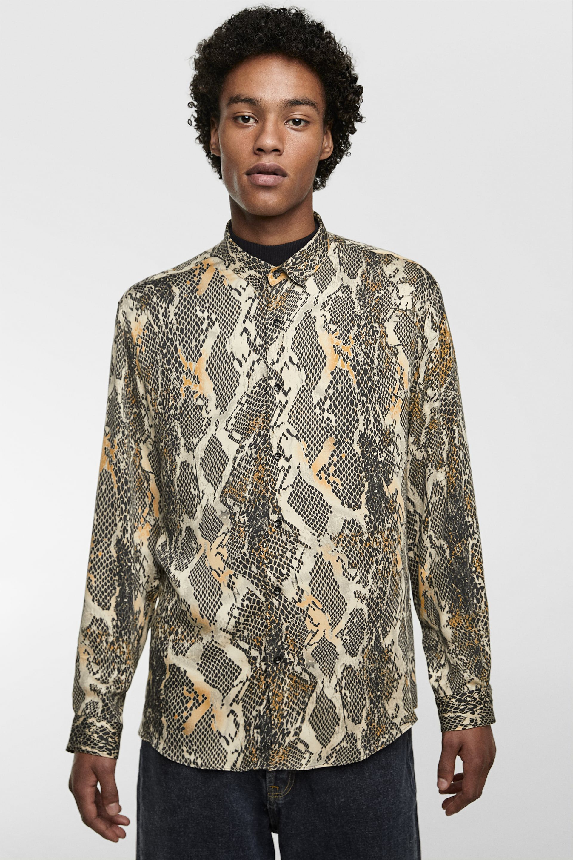 07a05c61 SNAKE PRINT SHIRT | Snakeskin Shirts for Men in 2019 | Mens printed ...