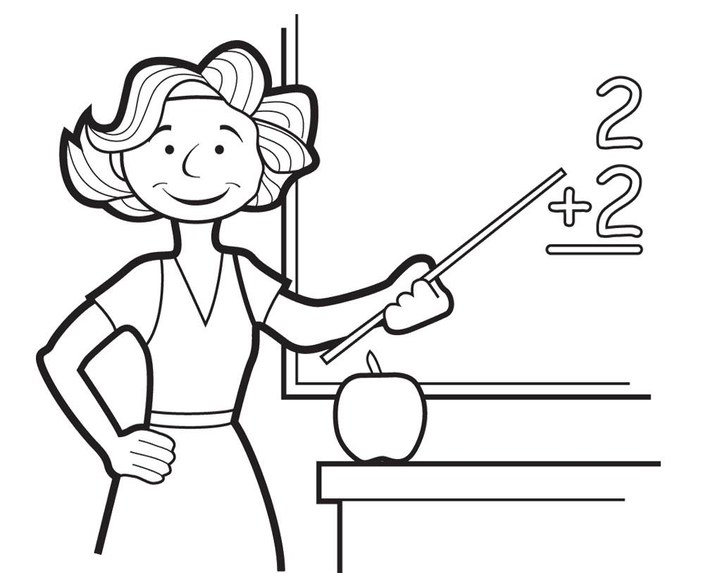 Teacher Coloring Pages Coloring Pages For Kids Coloring For