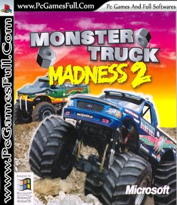 Monster Truck Madness 2 Game Download Full Version Free For Pc Games And Softwares Monster Trucks Monster Truck Madness Free Games