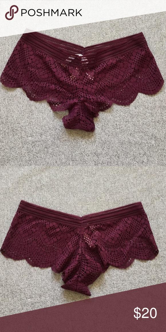 a95353e74e4ed SALE VS Sexy Shorties Lace design. Burgundy color. Victoria's Secret ...