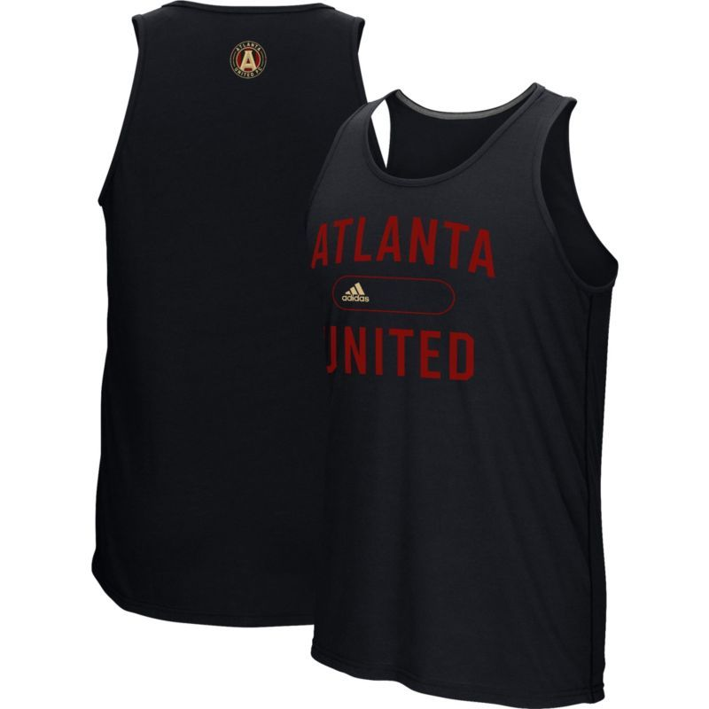 Adidas Men S Atlanta United Marathon Black Tank Top Size Medium