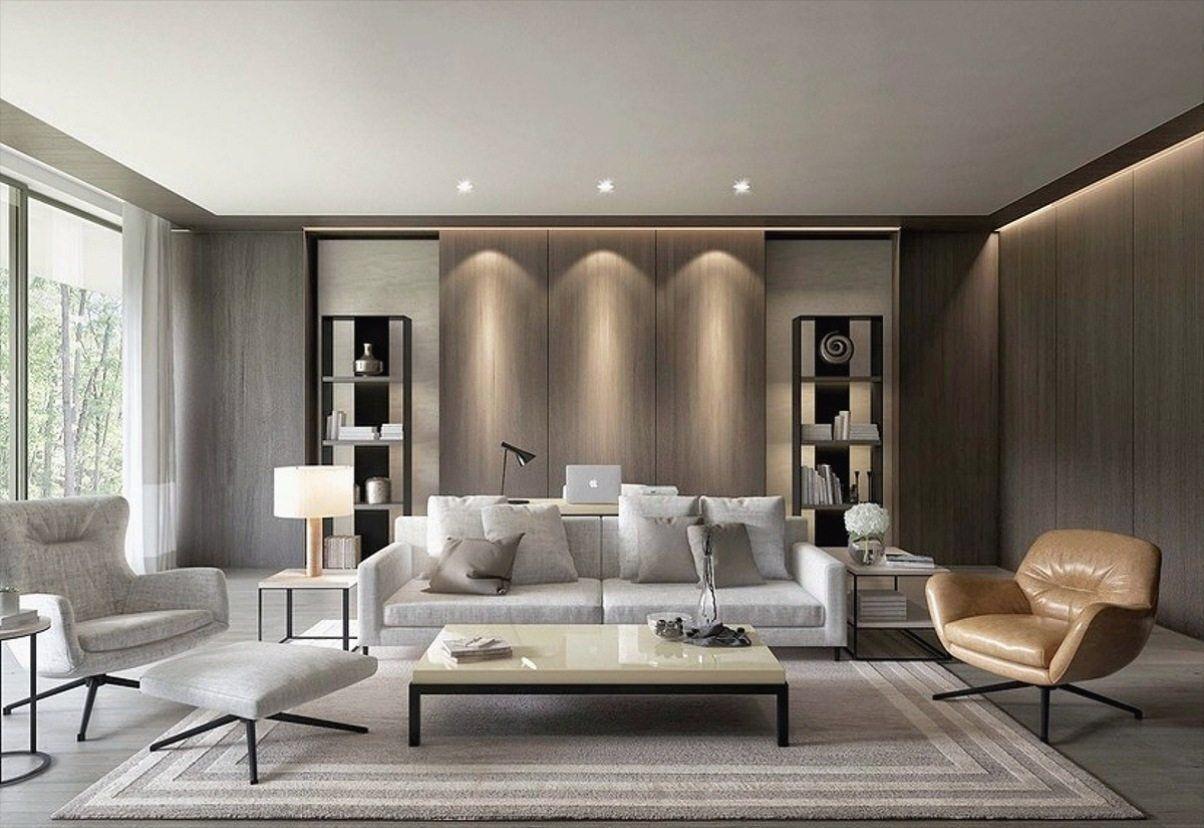 belle luxe gris salon decoration dans