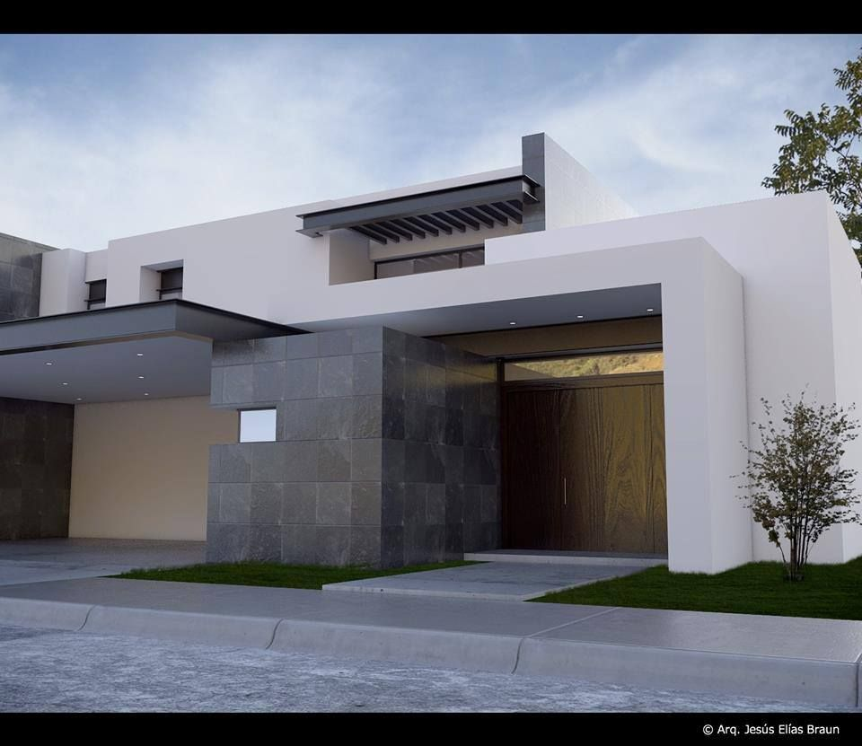 Fachada sobria casa pinterest fachadas casas y arquitectura
