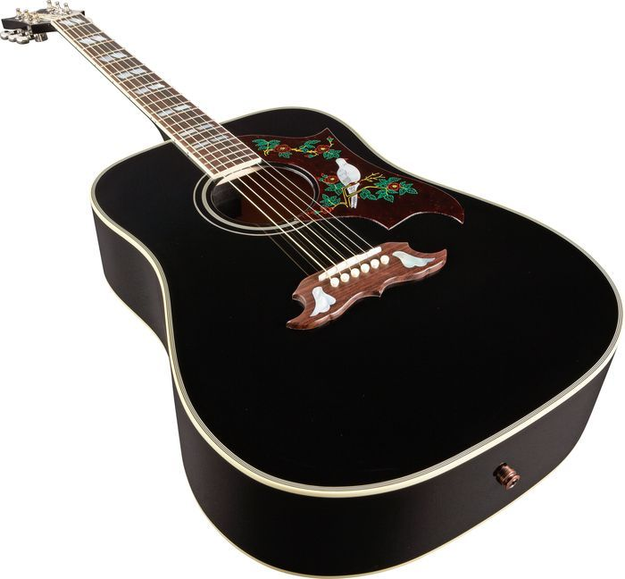 gibson dove ebony finish acoustic electric guitar gibson acoustic acoustic guitar. Black Bedroom Furniture Sets. Home Design Ideas