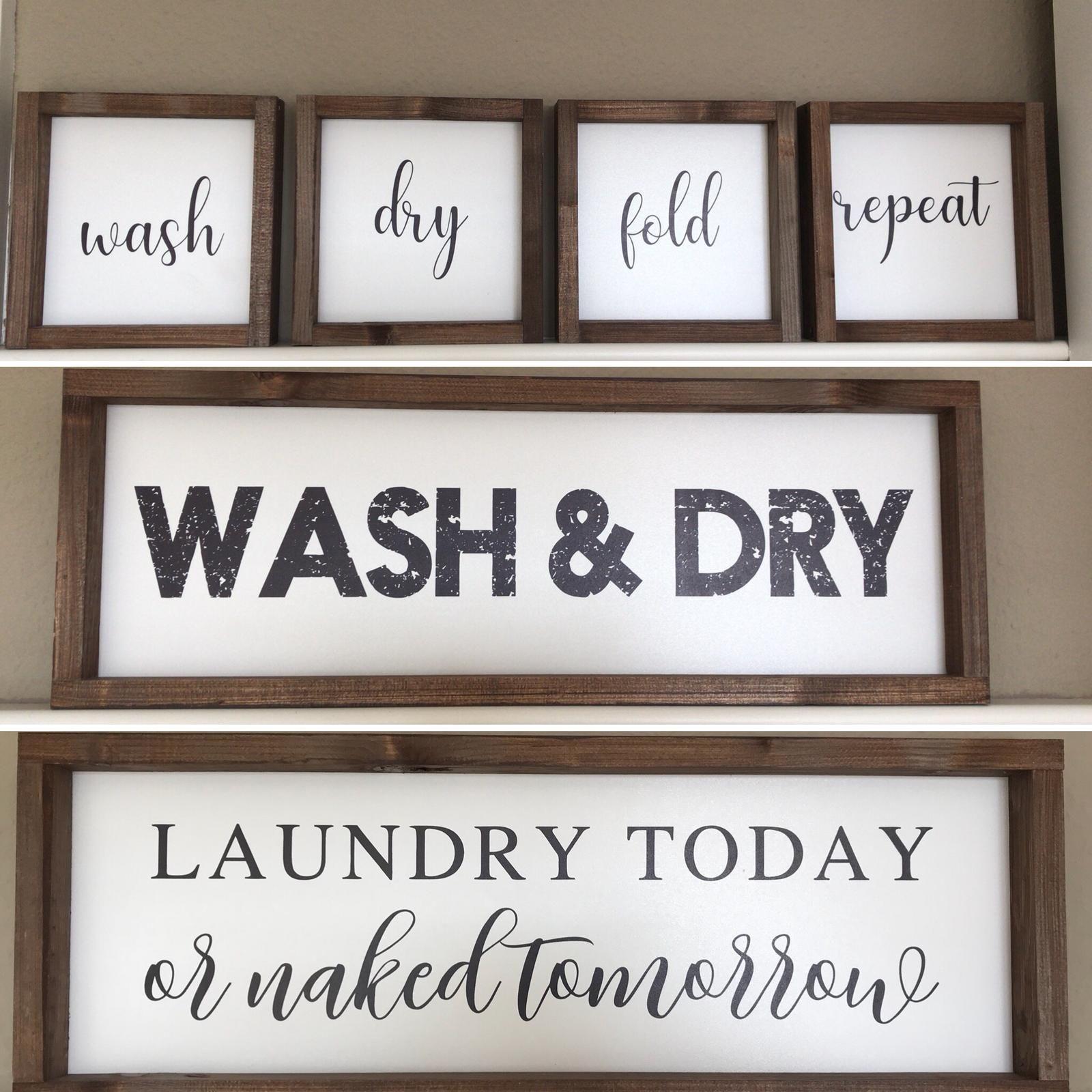 Holzschild Waschkuche Laundry Room Holzschilder Waschkuche Handtuchhalter