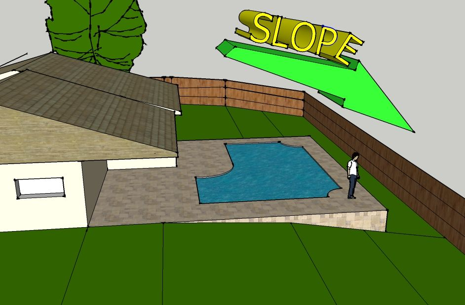 Instant online pool cost calculator install pool prices for Pool design sloped yard
