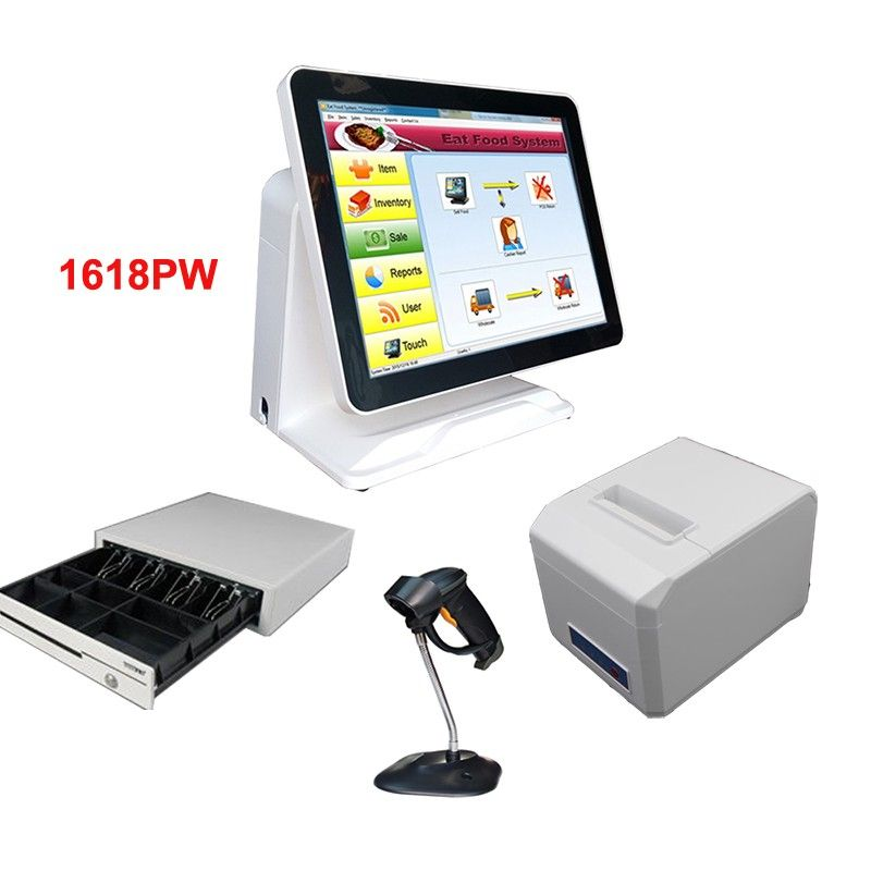 Find More LCD Monitors Information about Nice white POS system 15 inch Touch Screen Billing Machine/All in One POS/ Restaurant Cash Register with Free Shipping,High Quality inch touch screen,China touch screen Suppliers, Cheap 15 inch touch screen from compostech on Aliexpress.com