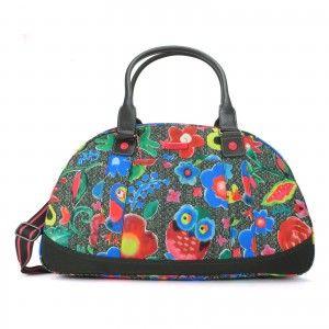 Oilily Funky Flowers Bowling Bag Charcoal - Grau