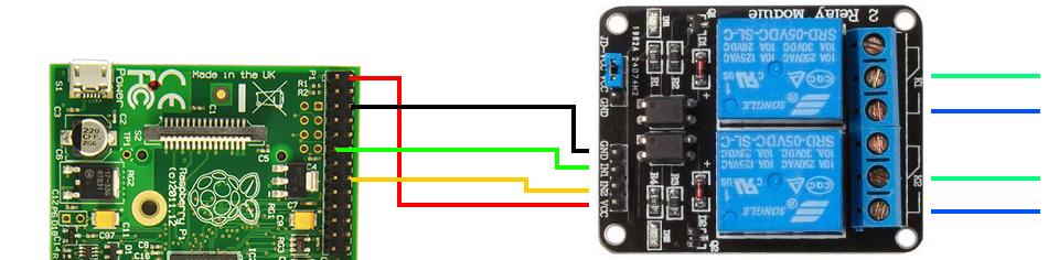 raspberry pi with sainsmart relay wiring raspberry pi projects rh pinterest com Raspberry Pi Pinout Raspberry Pi LED Lights