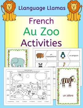 French Zoo Animals - Au Zoo - Activities pack - les animaux ...