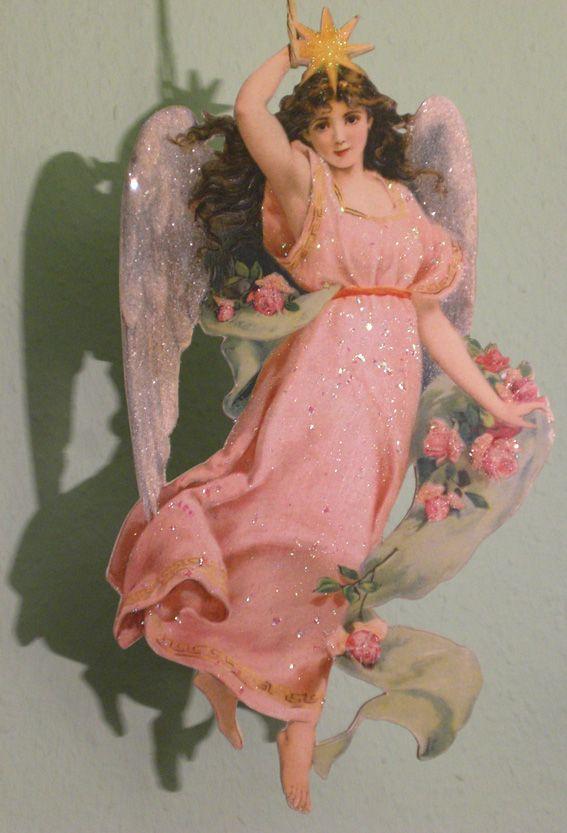 pink christmas angel