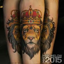 Neo - traditional king lion tattoo | Traditional tattoo ...