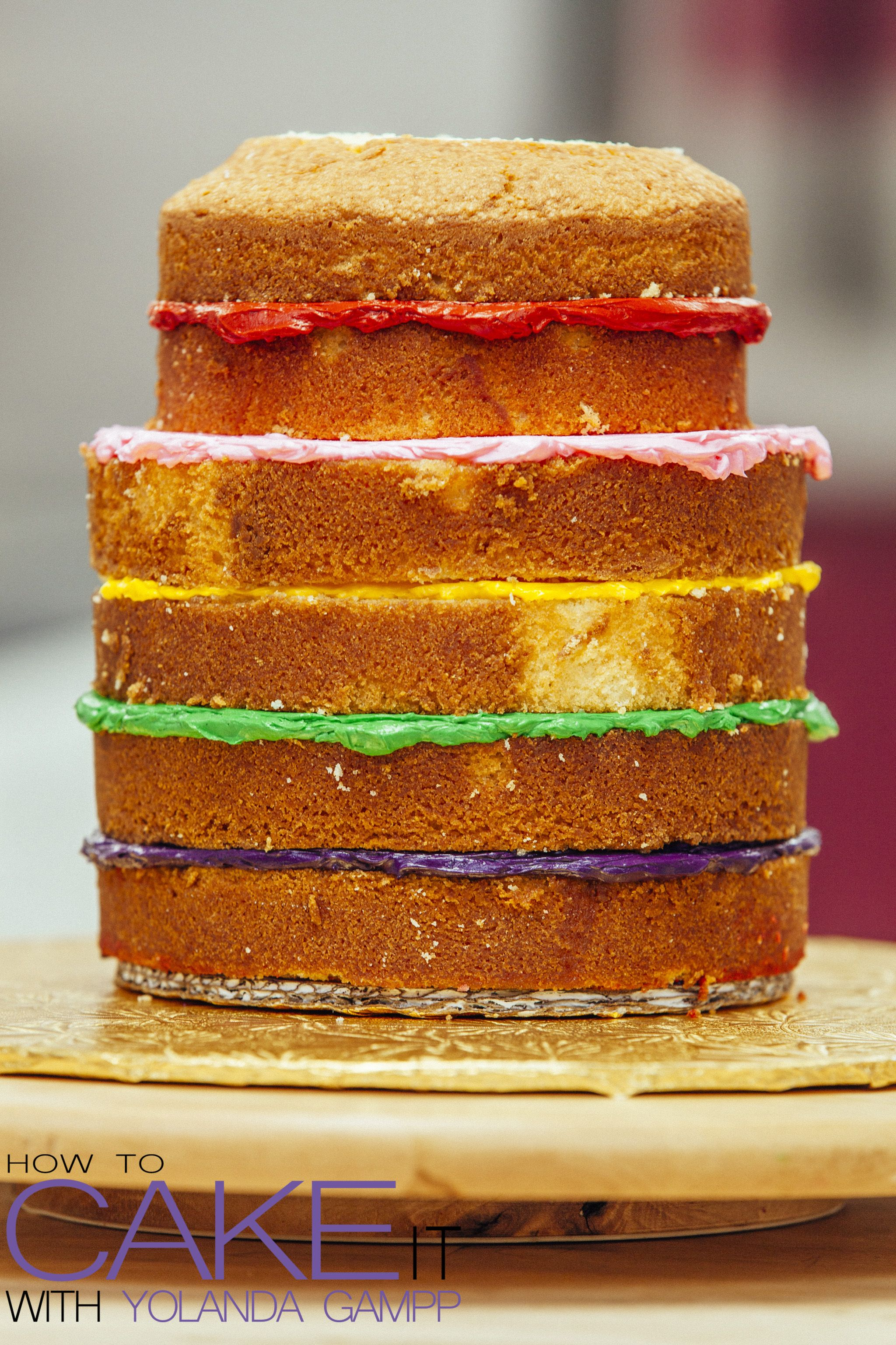 My Ultimate Vanilla Cake is firmer easier to carve and delicious