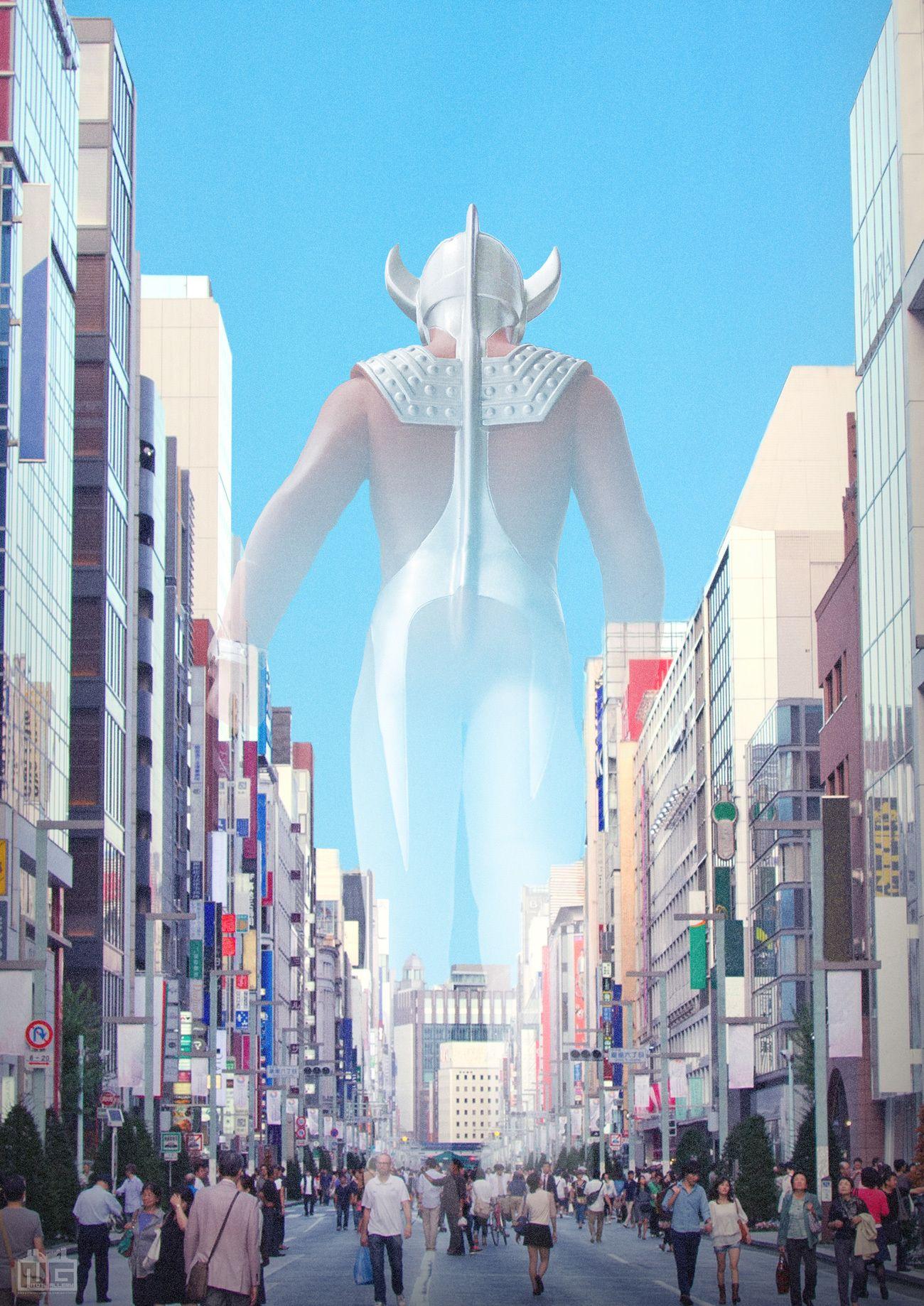 デジラマ さらばタロウよ 日本の景色 ウルトラマン イラスト ウルトラマンタロウ