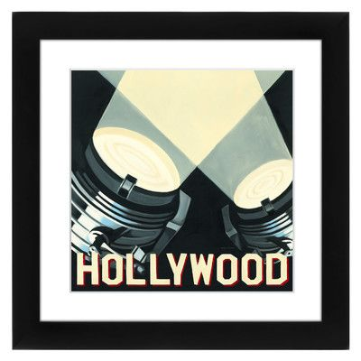 "East Urban Home Hollywood Framed Wall Art Size: 12"" H x 12"" W x 1"" D"