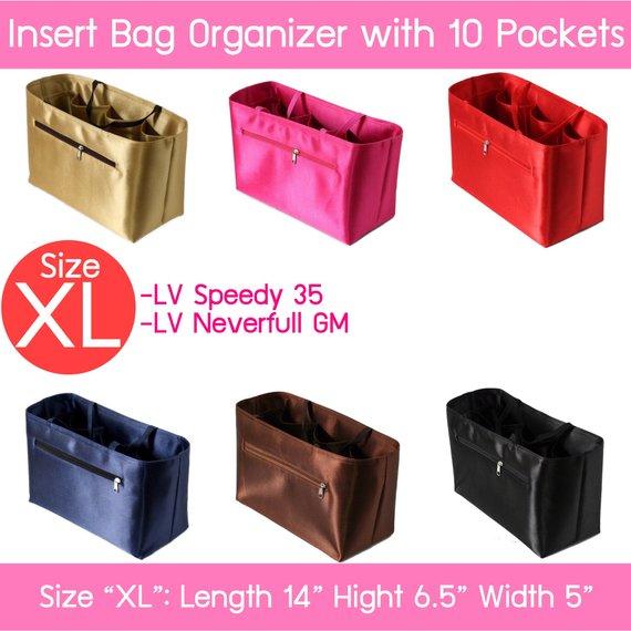 749fd4dbb1 Free shipping  purse insert bag shaper organizer for LV Speedy 35 ...