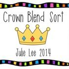 Students simply sort the pictures on the crowns by beginning blend.  Great to use during Fairy tale Week....