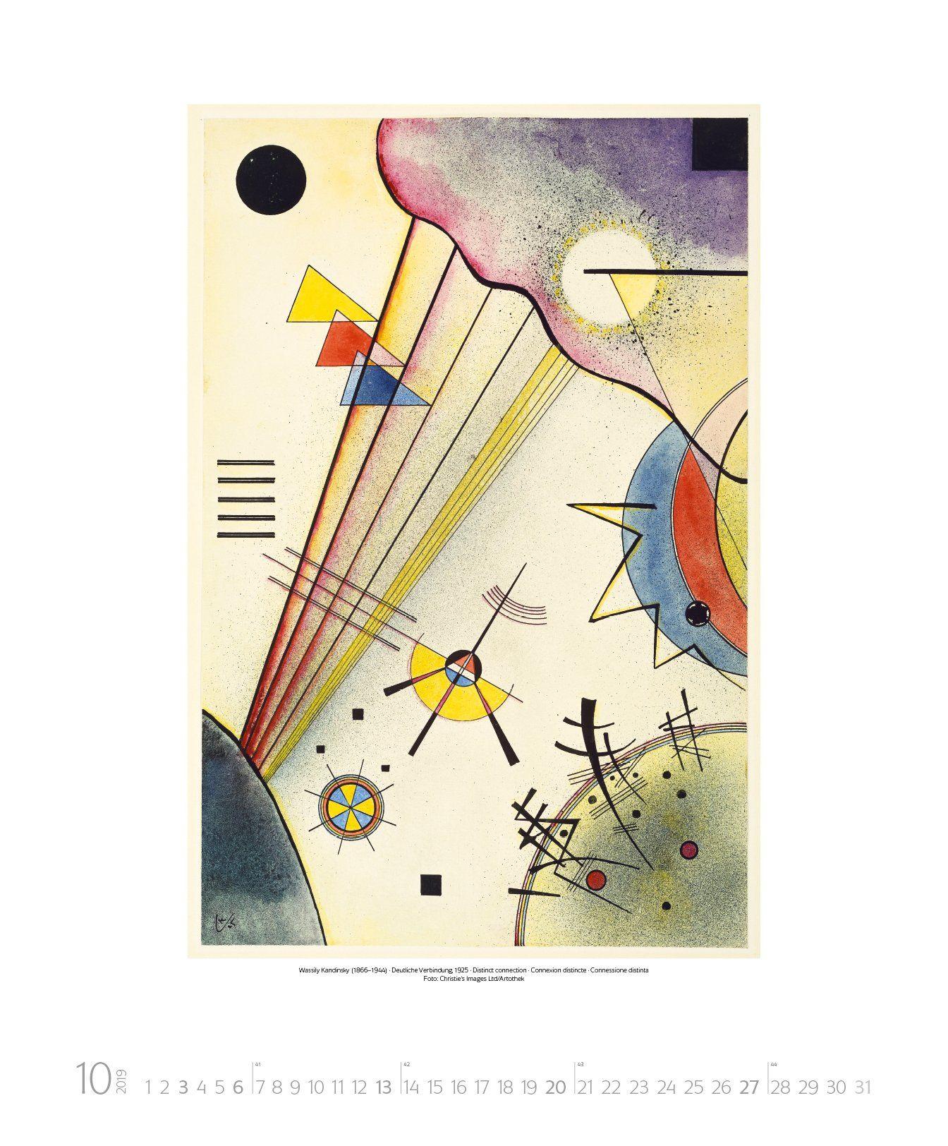Wassily Kandinsky 2019 Kunst Art Kalender Kandinsky Wassily Kalender Art Wassily Kandinsky Kandinsky Kunst