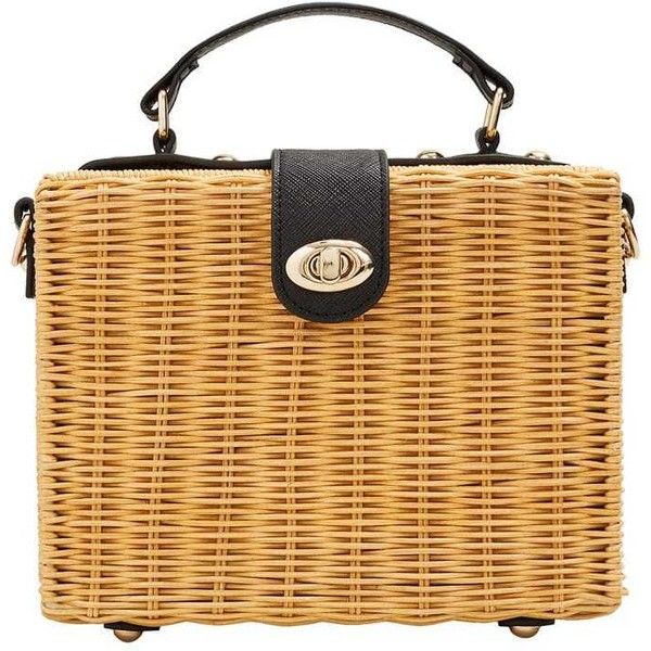 Bamboo Basket Bag 58 Liked On Polyvore Featuring Bags