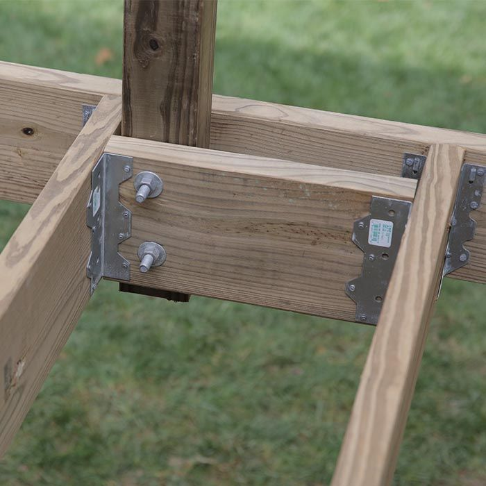 Add Bracing Behind Posts On The Rim Joist Diy Deck Building A