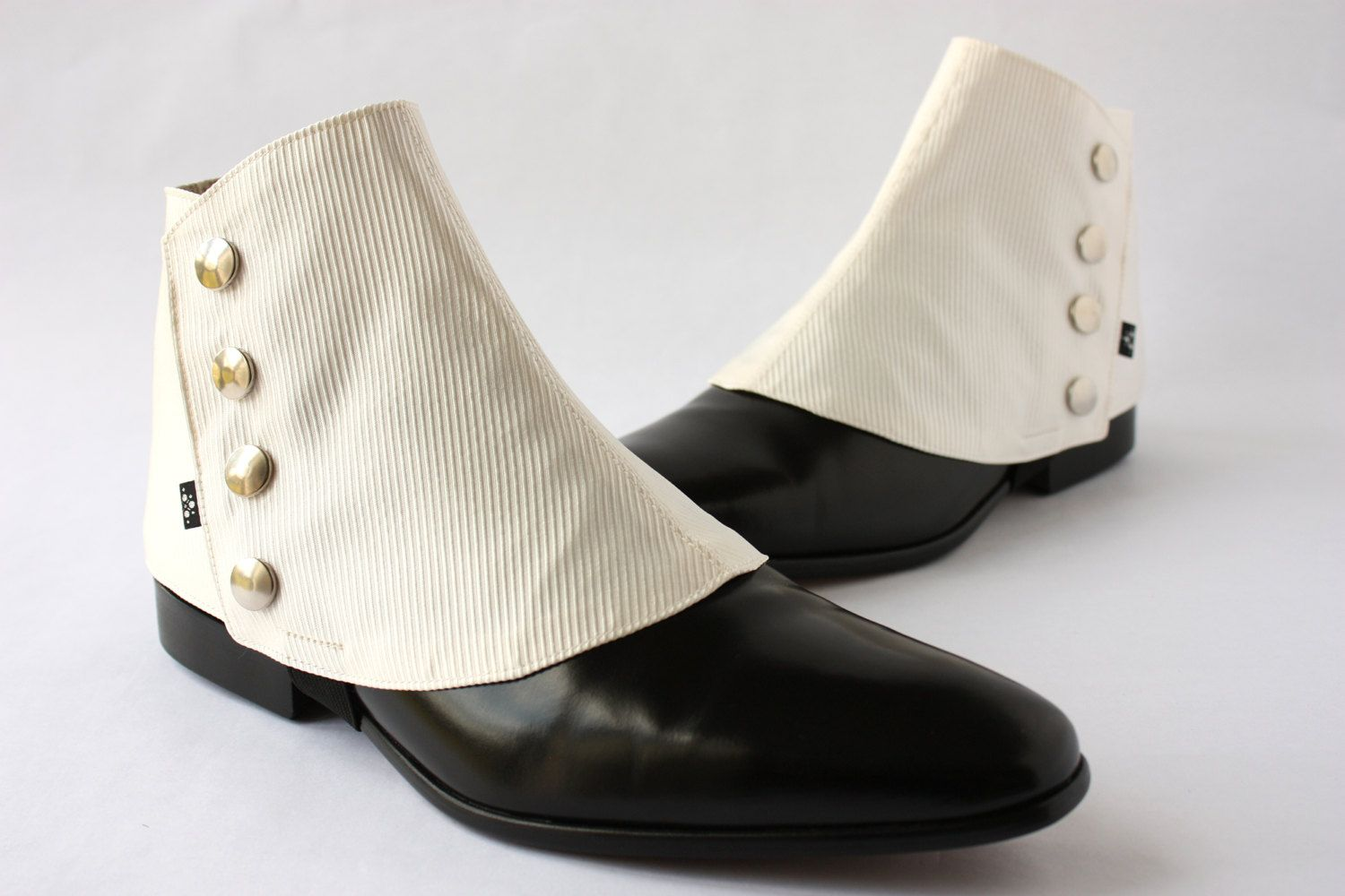 1920s White Spats One Size
