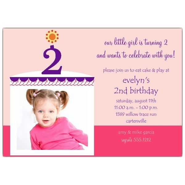 Nice 2nd Birthday Invitations Ideas for Kids – Sample Birthday Invitation Wording for Kids