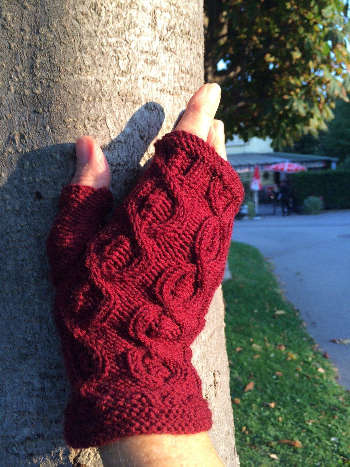 Modern Leicht Häkeln Fingerlose Handschuhe Muster Gallery - Decke ...
