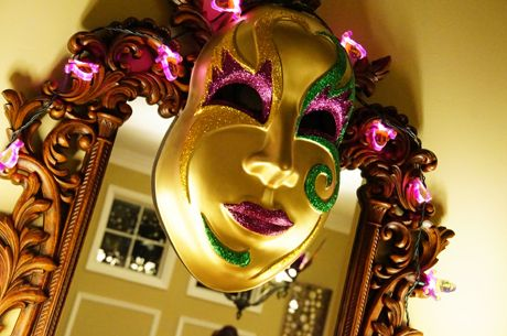jumbo mardi gras mask | Be Envied Entertaining
