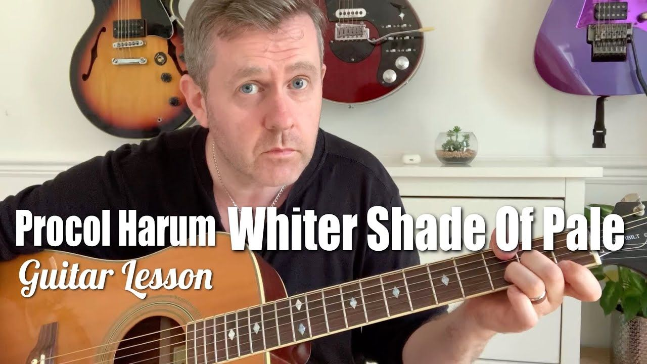 Whiter Shade Of Pale Procol Harum Acoustic Guitar Lesson Guitar Chords Youtube In 2021 Guitar Lessons Acoustic Guitar Lessons Guitar