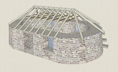 Scottish Blackhouse Built For Rocktoberfest 09 Black House House Design Design