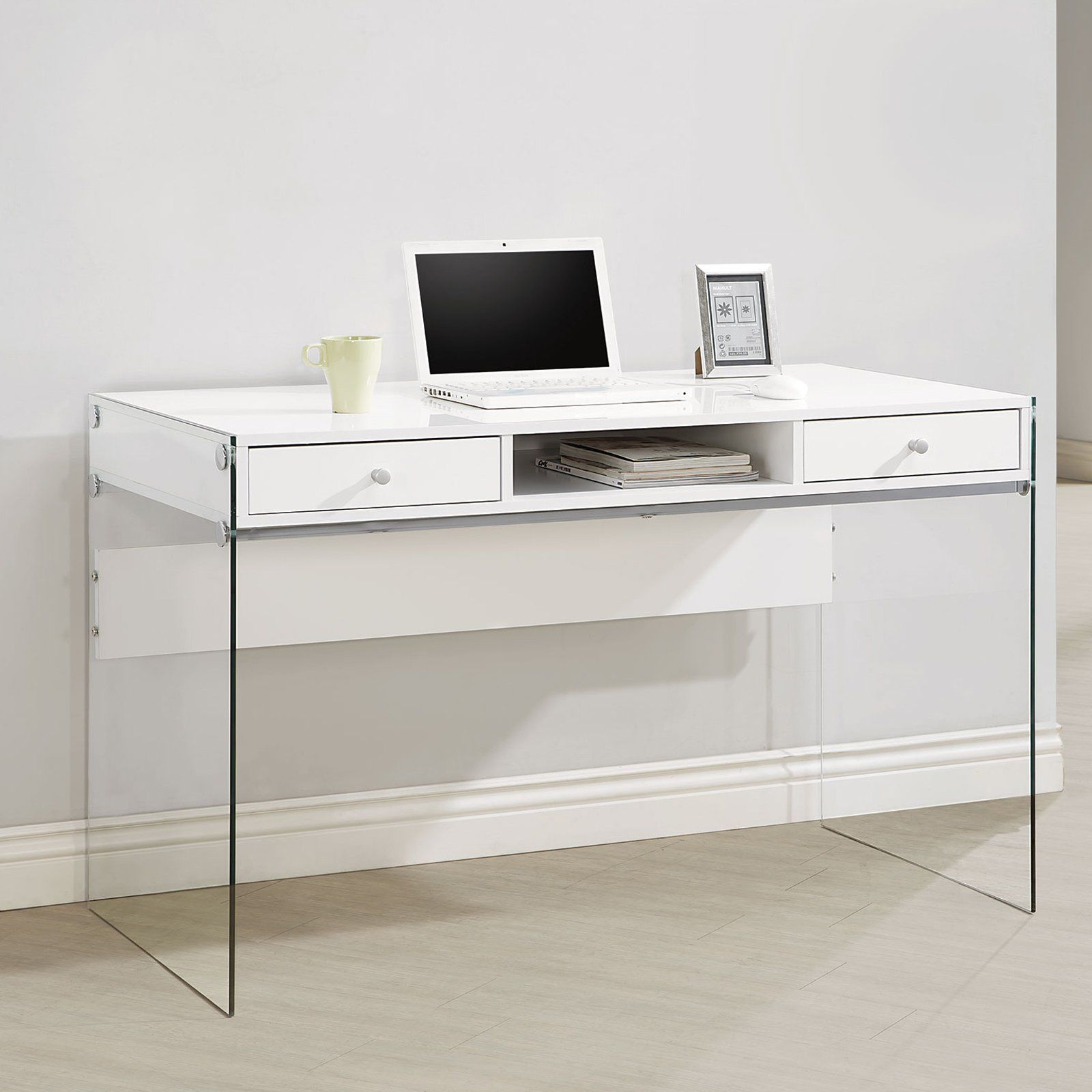 Coaster Furniture Glass Sided Computer Desk Writing Desk With