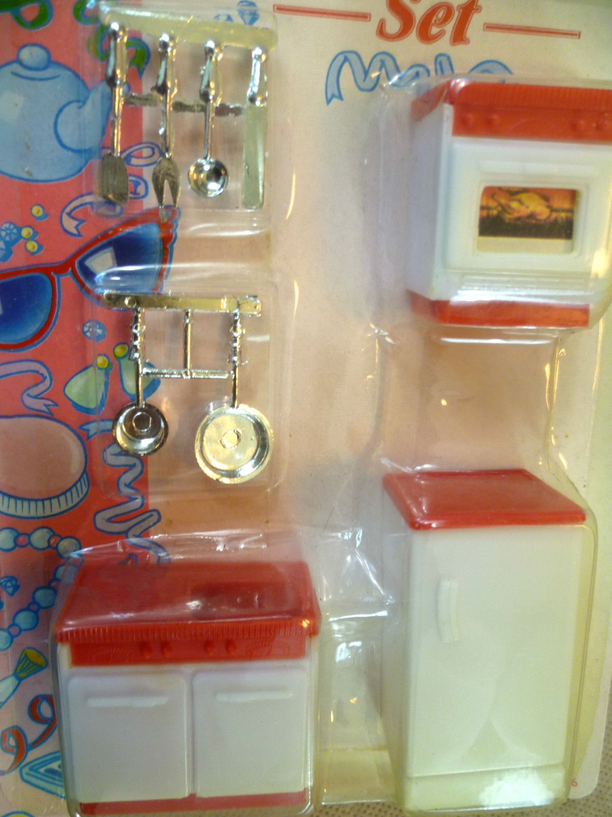 vintage dolls house carded woolworths small scale plastic kitchen
