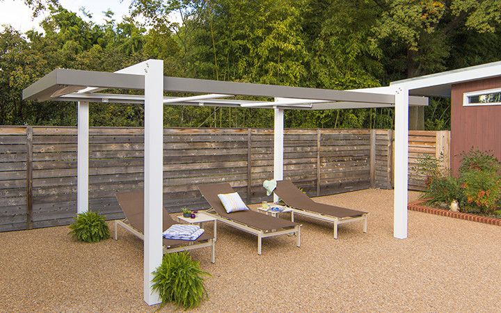 Trex Pergola Balance brings outdoor living to new heights and provides the framework for your outdoor room. Offered in 10 standard sizes with custom sizes available you can make any space your own. Patio, deck or poolside, Balance will turn an outdoor living area