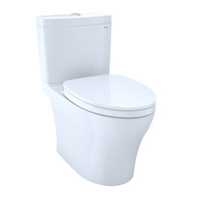 Toto Aquia Iv Dual Flush Elongated Two Piece Toilet With High Efficiency Flush Seat Included In 2020 Washlet Dual Flush Toilet Toilet