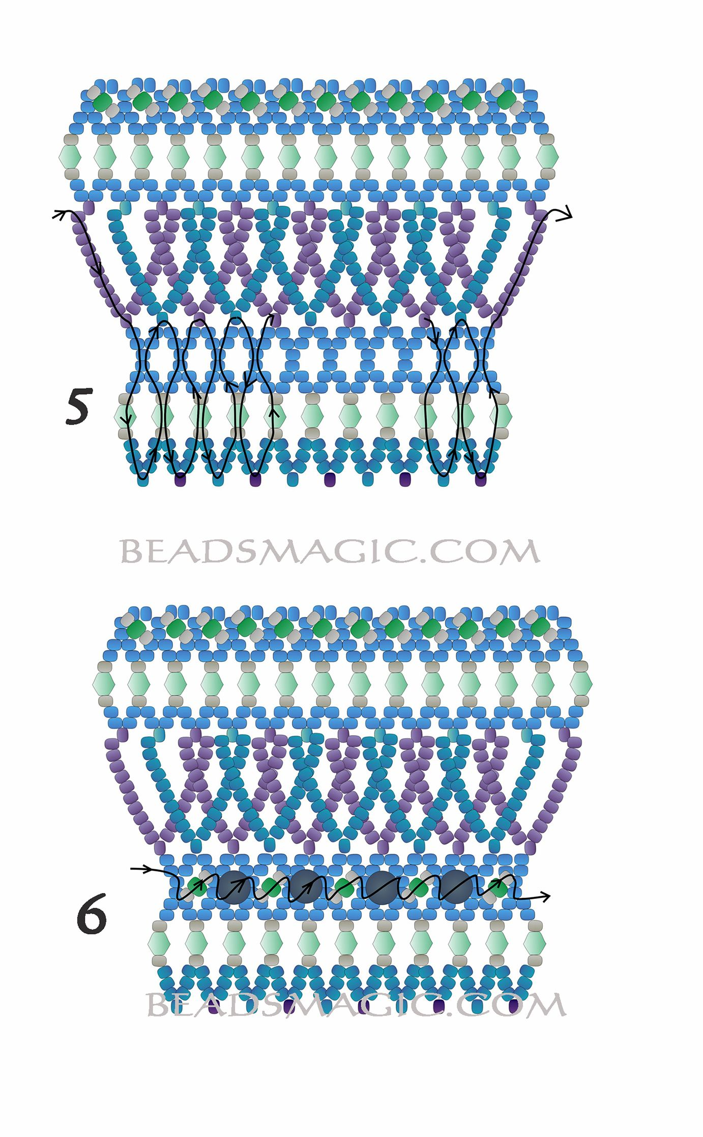 Free pattern for necklace Happy | Beads Magic
