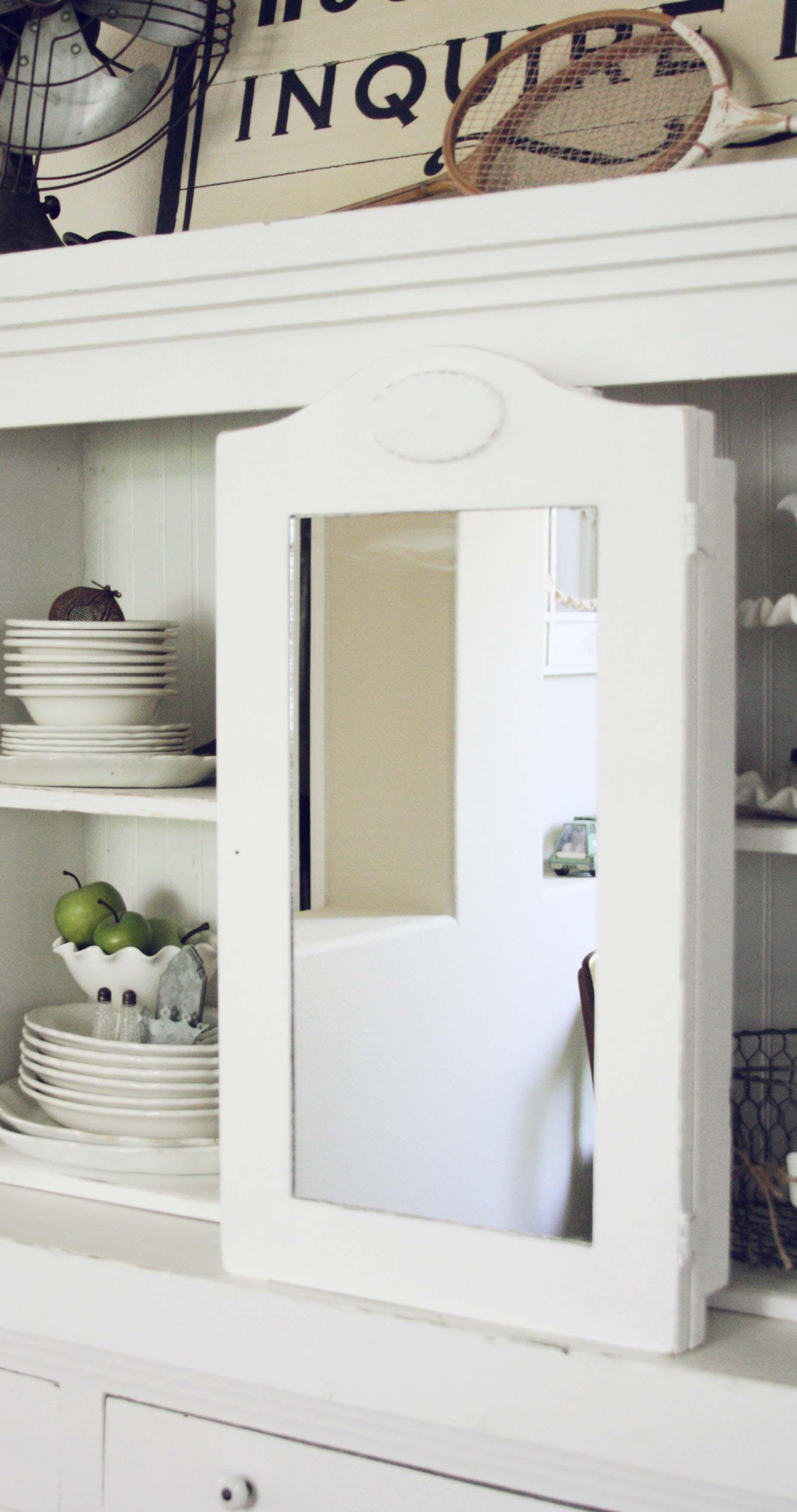Vintage White Wood Medicine Cabinet  Blondiensc.etsy.com