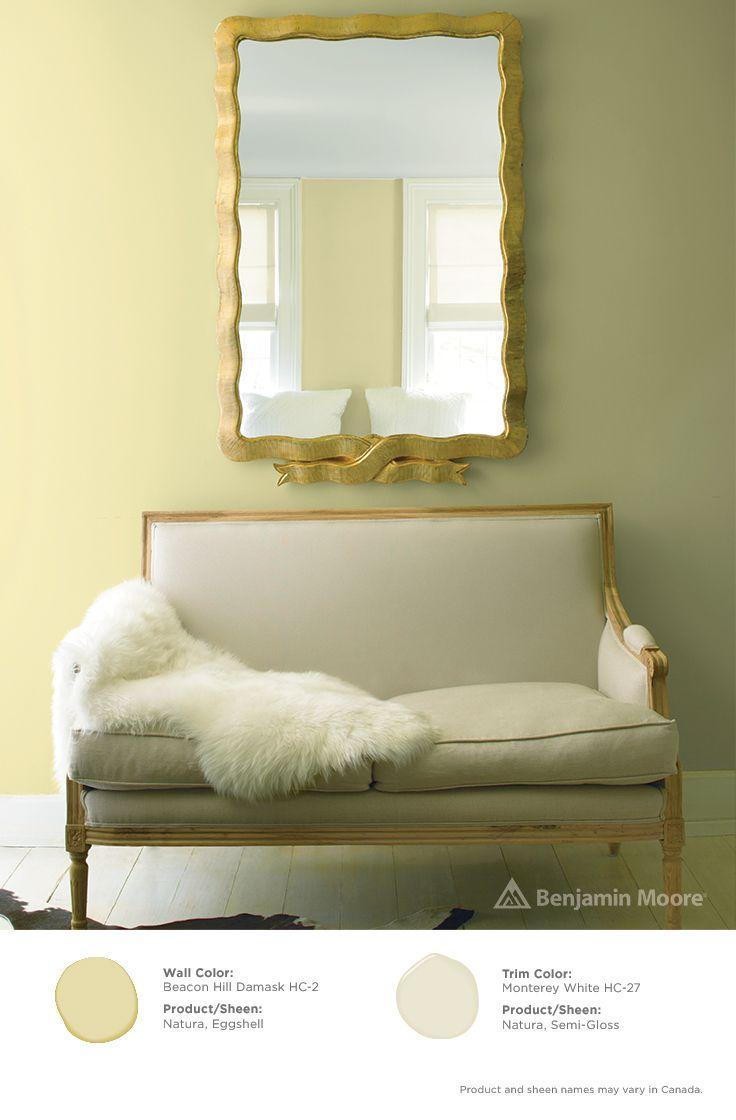Historical Colors Benjamin Moore Yellow Walls Living Room Damask Decor Paint Colors Benjamin Moore